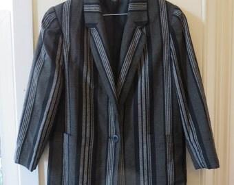 Vintage 80s Stripe Blazer
