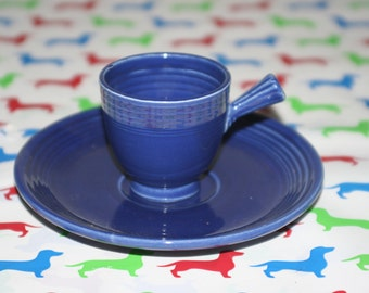 Demitassee cup and saucer Original Cobalt blue
