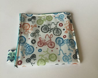 Reusable Snack Bag - Bicycles