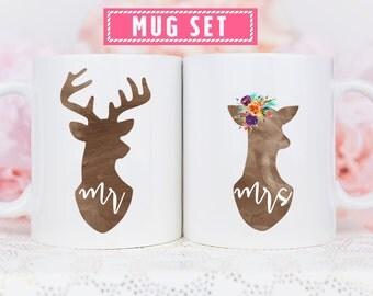 Couple Mugs, Couples Gift Set, Mr and Mrs Mugs, Hubby and Wifey Mugs, Hubby Wifey Mugs, Wedding Gift Idea, Unique Wedding Gift, Coffee Mugs