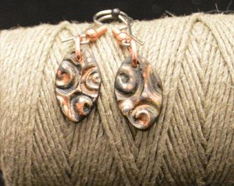 Falling Leaf ceramic earrings