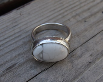 Howlite Sterling Silver Ring