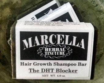 The DHT BLOCKER Hair Growth Shampoo Bar Natural Organic Vegan Inhibits DHT, Prevents Hair Loss & Thinning, Stimulates Follicles
