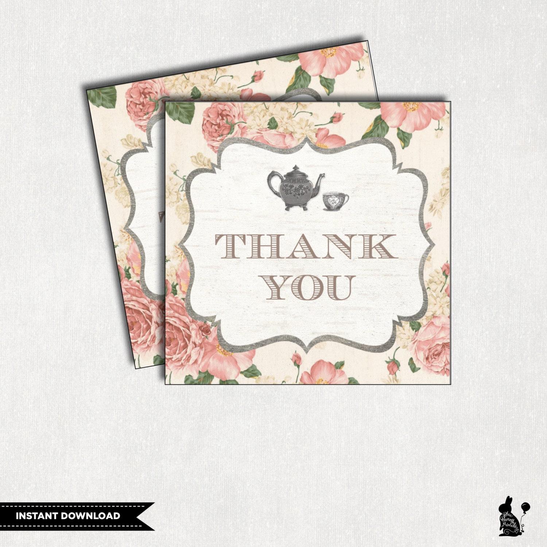 Floral Baby Shower Favors ~ High tea favor tags floral baby shower favors vintage bridal