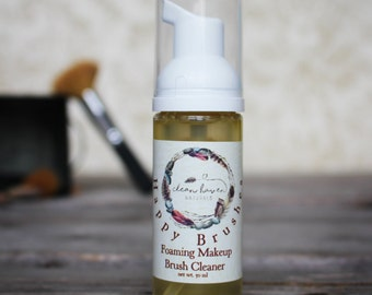 Makeup Brush Cleaner - Natural with Essential Oils - Chemical Free - Natural Skin Care - Sweet Orange Oil