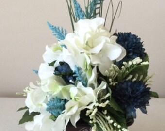 White Hydrangea Floral Arrangement