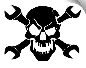 50% Off** Skull Wrenches Vinyl Decal Limited Time Offer Use Code NEWSHOP16