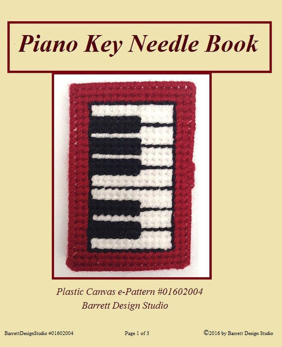 Plunket Book Cover Pattern ~ Piano needle minder book diy plastic canvas e pattern instant