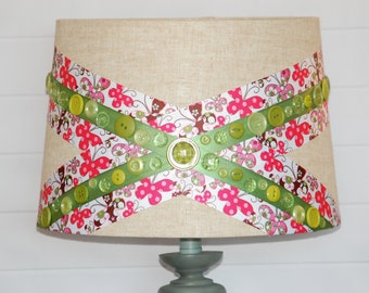 Butterfly Button Lampshade