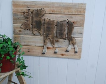 Layered Wood Moose Wall Art, Wildlife Decor, Moose Picture, Wood Moose, Wildlife Picture, Outdoors Art