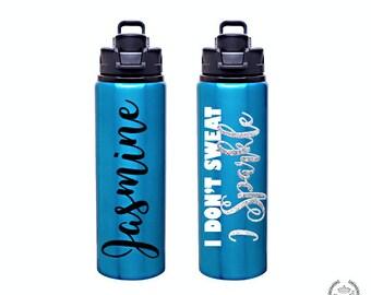 Personalized 28oz Aluminum Water Bottle --AQUA--