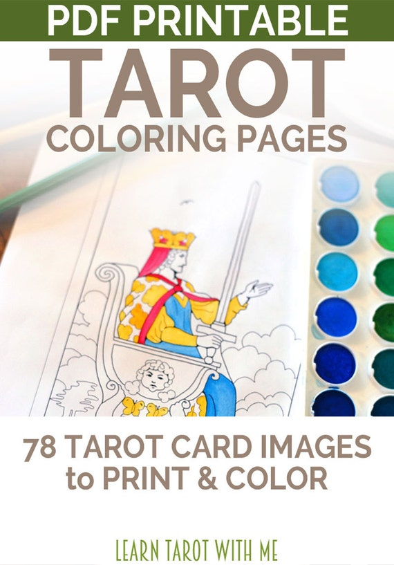 Tarot Deck Adult Coloring Pages A Tarot Coloring Book With