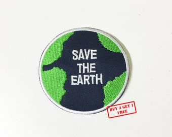 SAVE THE EARTH Iron on Patch