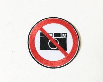 No Photo Iron on Patch
