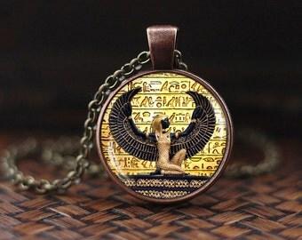 Egyptian pendant etsy egyptian pendant ancient egypt jewelry egyptian goddess egypt necklace egyptian jewelry aloadofball Choice Image