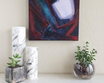 "Original Abstract Acrylic Painting - 12"" x 12"""