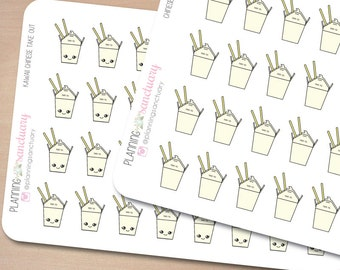 Chinese Take Out | Food Planner Stickers Perfect for Erin Condren, Kikki K, Filofax and all other Planners