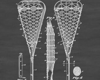 Lacrosse Racquet Patent - Patent Print, Wall Decor, Lacrosse Art, Lacrosse Gift, Lacrosse Mom, Lacrosse Stick, Sports Art