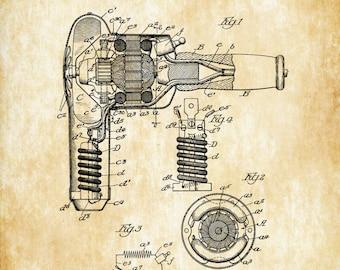 Hair Dryer Patent 1931 - Patent Print, Blow Dryer,  Vintage Beauty, Girls Room Wall Decor, Hair Salon Art, Hair Stylist Gift, Salon Decor