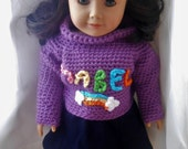 Handmade Crochet Gravity Falls Mabel Pines Inspired 18 Inch Doll Sweater