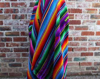Rainbow Spectrum Beach Blanket Techni Colour - 100% Wool