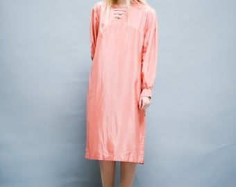 Vintage Peach silk dress