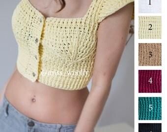 Summer women's top crochet.
