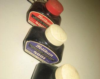FOUR bottles PELIKAN Ink