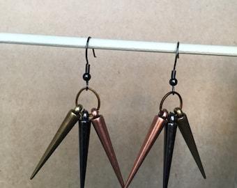 Funky spike earrings