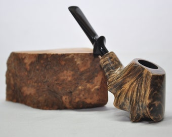 Volcano Pipe - Freehand Tobacco Pipe. Smoking pipe. Briar pipe. Handmade. Briar wood pipes. Tobacco pipe