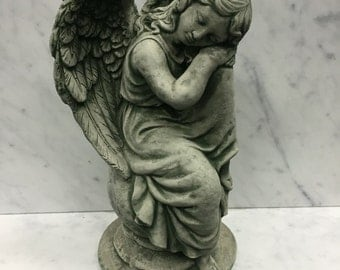 Resting Angel Stone Statue