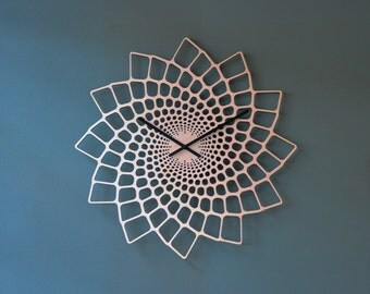 Large Modern Wall Clock - OTTHER Leaf