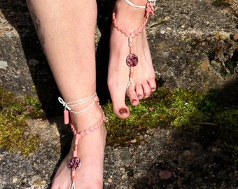 Barefoot sandals 'Tiny Hearts'