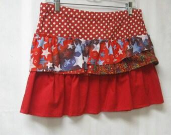 Girls Plus Size Ruffled Skirt