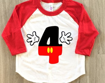 4th Birthday - baby boy or girl fourth birthday toddler shirt - birthday tshirt
