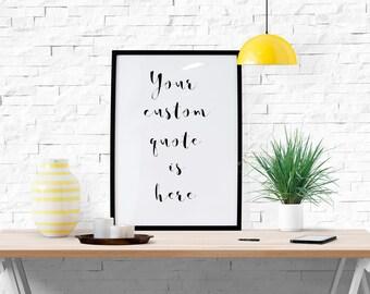 Custom Quote Prints Best Custom Quote Print  Etsy