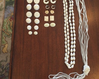 Lot of Ivory vintage jewelry