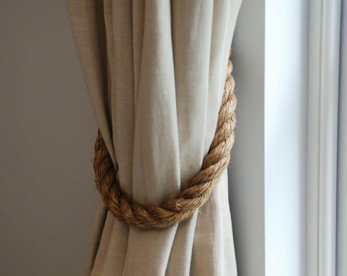 Extra Thick 2.8 cm Manila Rope Curtain Tiebacks Curtain hold backs Nautical Decor