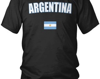 Argentina Country Flag Men's T-Shirt, Argentinian Pride, Argentine, Men's Argentina Shirts AMD_ARG_08