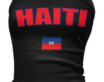 Haiti Ladies Juniors Tank Top, Republic of Haiti, Haitian Pride, Port-au-Price, Ladies Juniors Haiti Soccer Tank Tops AMD_HAI_08