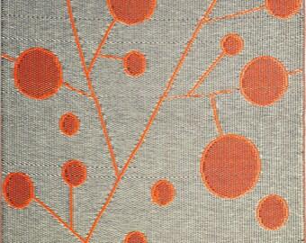 B.b.begonia Cotton Ball Outdoor Rug Reversible Design In Brown U0026 Orange For  Camping, Patio