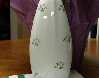 Royal Tara Shamrock Vase--Fine Bone China