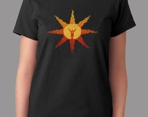 Praise The Sun Goal After You Died Sun Silhouette Game Inspired T-shirt. Male and Female Apparel