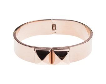 Pyramid Rose Gold Bracelet /