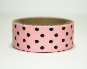 Washi Tape pink with black peas