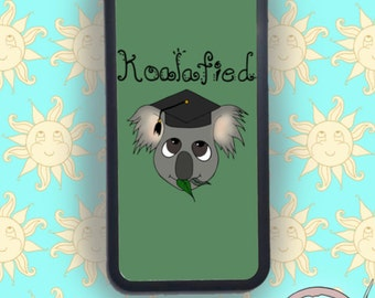 Koala 'Koalafied' Phone Case, IPhone Cover, Samsung And Other Models Available, Illustrated Pun Design