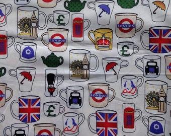 British Tea Print Bib
