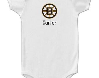 Personalized Boston Bruins Baby Onesie