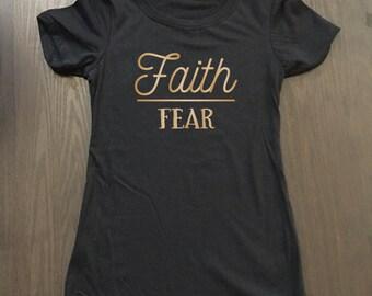 Faith Over Fear Shirt - Faith Tees - Christian Apparel - Christian Shirts - Religious Shirts