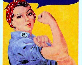Classic Rosie the Riveter Note Cards with Envelopes